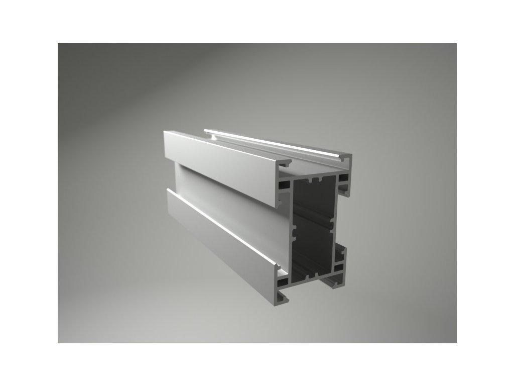 Podkladový hliníkový profil nosný, 50 x 80 mm
